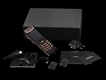 Комплектация телефона Vertu Signature S Design Pure Black Red Gold Russian