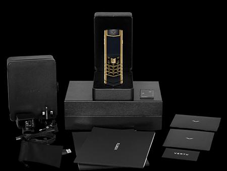 Комплектация телефона Vertu Signature S Design Gold Exclusive