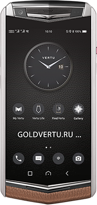 Телефон Vertu Aster P Baroque Caramel Brown Calf