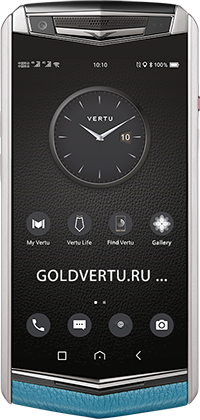Телефон Vertu Aster P Baroque Gentleman Blue Calf