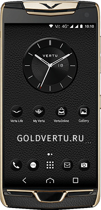 Телефон Vertu Constellation X Agate Black Red Gold