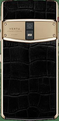 Телефон Верту Constellation X Alligator Black Red Gold