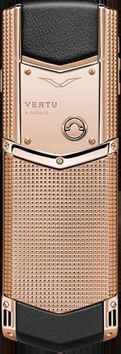 Телефон Верту Signature S Design Clous De Paris Gold