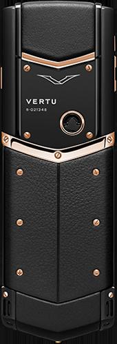 Телефон Верту Signature S Design Pure Black Red Gold Exclusive