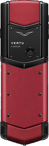 Телефон Верту Signature S Design Pure Black Red Leather Russian
