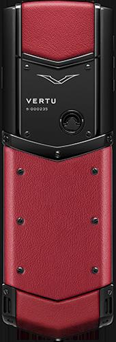 Телефон Верту Signature S Design Pure Black Red Leather Russian
