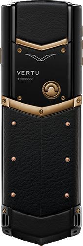 Телефон Верту Signature S Design Red Gold Ultimate Black Russian