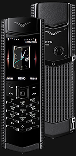 Купить Vertu Signature S Design Clous De Paris Pure Black