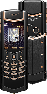 Купить Vertu Signature S Design Pure Black Red Gold Russian